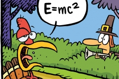 Einstein Turkey Cartoon