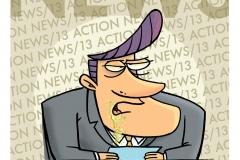 Newsman Cartoon
